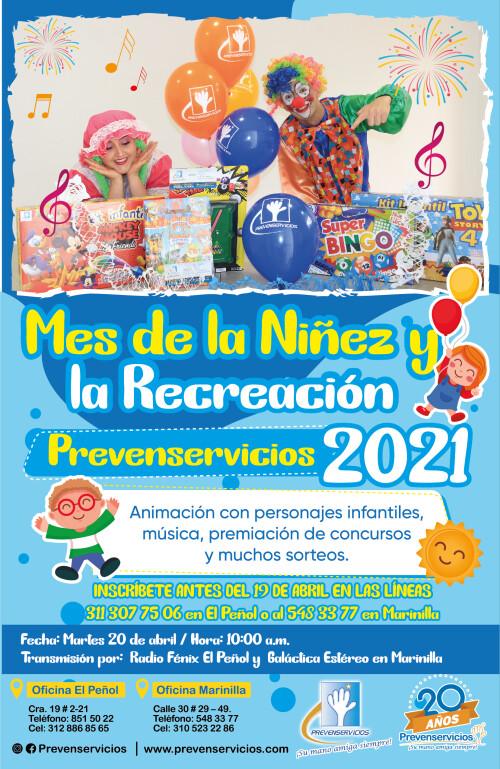 Afiche dia de la niñez 2021